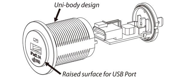 as232-marine usb charger socket  2 ports